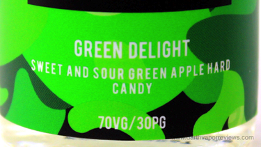 CRFT REUP Green Delight E-Liquid Label
