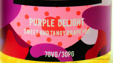 CRFT REUP Purple Delight E-Liquid Label