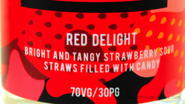 CRFT REUP Red Delight E-Liquid Label