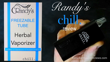 Randy's Chill Freezable Tube Herbal Vaporizer Review