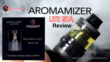 Steam Crave Aromamizer Lite RTA Review
